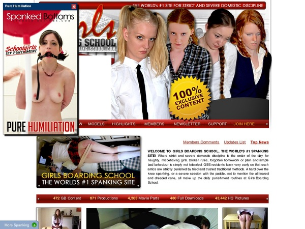 Girls Boarding School Signup