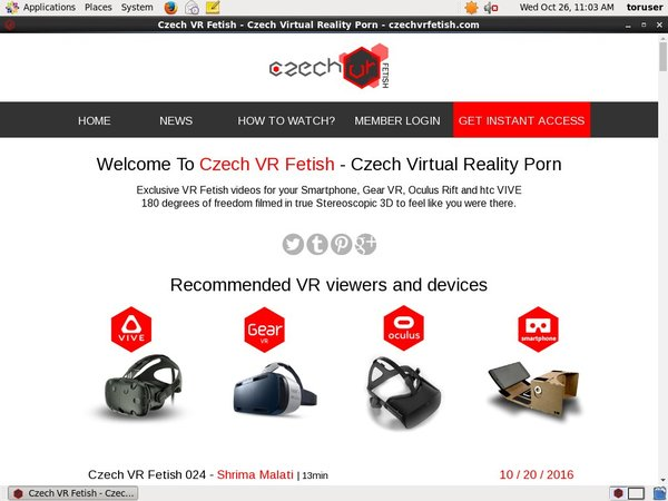 Czech VR Fetish Payment Methods